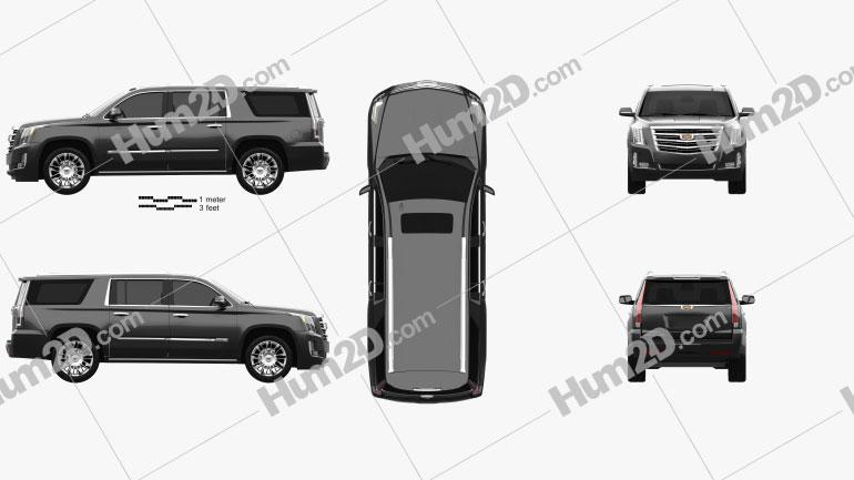 Cadillac Escalade ESV Platinum (EU) 2015 car clipart