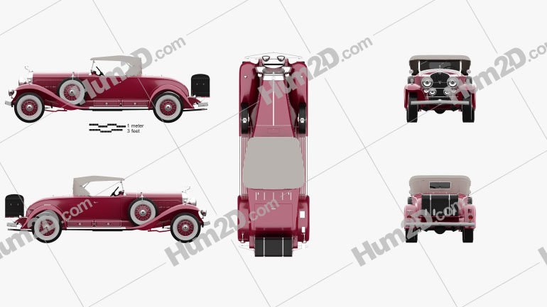 Cadillac V-16 Roadster 1930 car clipart