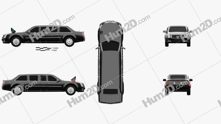 Cadillac US Presidential State Car 2017 car clipart