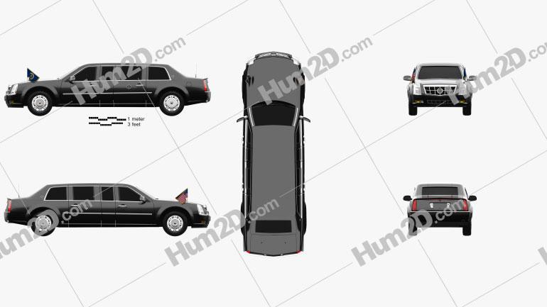Cadillac US Presidential State Car 2009 car clipart