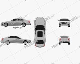 Cadillac CTS Premium Luxury 2017 car clipart