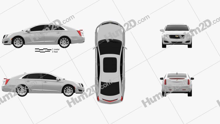 Cadillac XTS 2016 car clipart