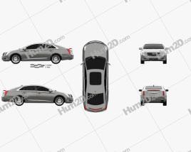 Cadillac XTS Platinum 2017 car clipart