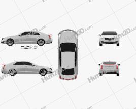 Cadillac ATS Premium Performance sedan 2017 car clipart