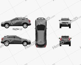 Cadillac SRX Base 2010 car clipart