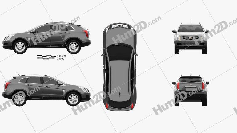 Cadillac SRX Base 2010 Clipart Image