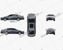 Cadillac XTS 2018 car clipart