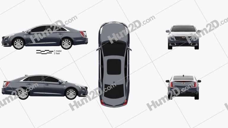 Cadillac XTS 2018 Imagem Clipart