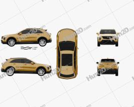Cadillac XT4 2019 car clipart