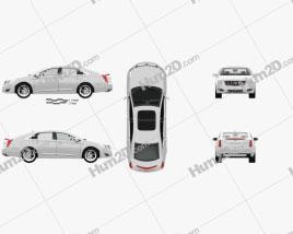 Cadillac XTS with HQ interior 2013 car clipart