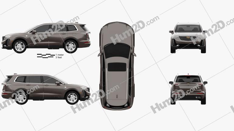 Cadillac XT6 Luxury 2020 car clipart