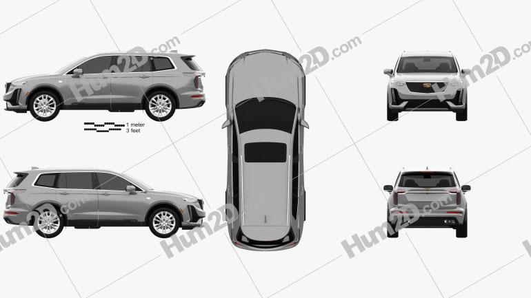 Cadillac XT6 Sport 2020 car clipart