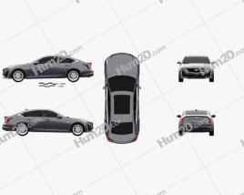 Cadillac CT5 2020 car clipart