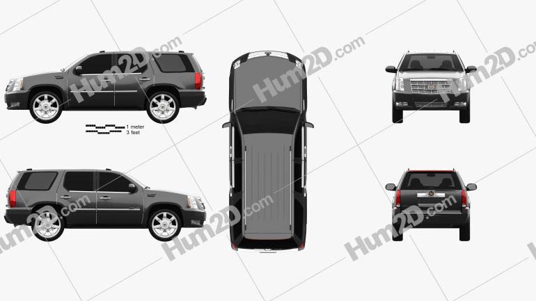 Cadillac Escalade 2012 car clipart