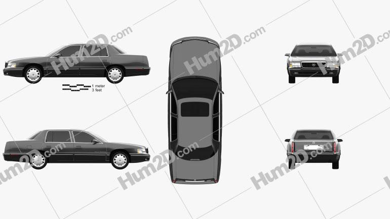Cadillac DeVille Concours 1997 car clipart