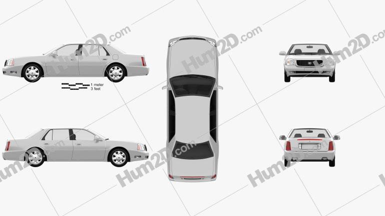 Cadillac DeVille DTS 2000 Clipart Bild