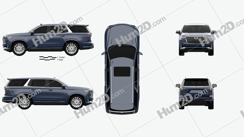 Cadillac Escalade Luxury 2021 car clipart