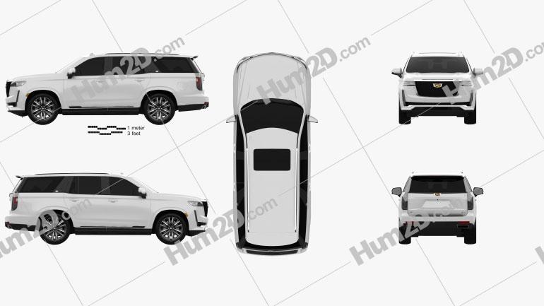 Cadillac Escalade Platinum Sport 2021 car clipart