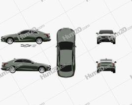 Cadillac CT4 2020 car clipart