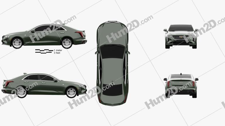 Cadillac CT4 2020 Clipart Image