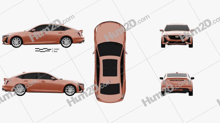 Cadillac CT5 V 2020 car clipart