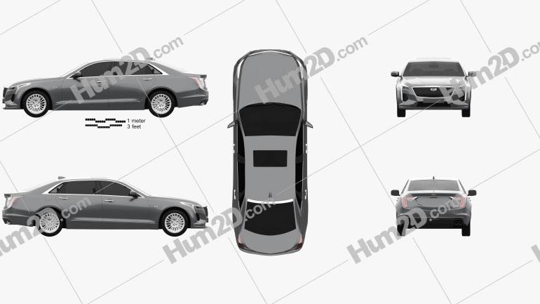 Cadillac CT6 CN-spec 2020 car clipart