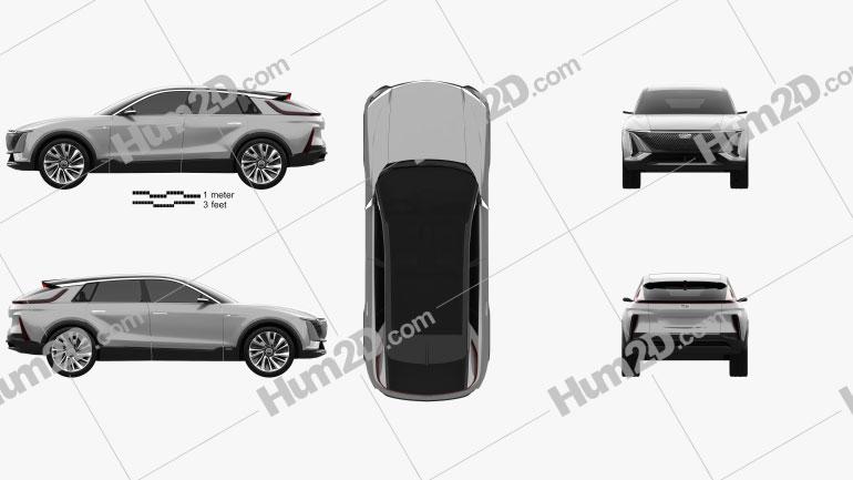 Cadillac Lyriq 2020 car clipart