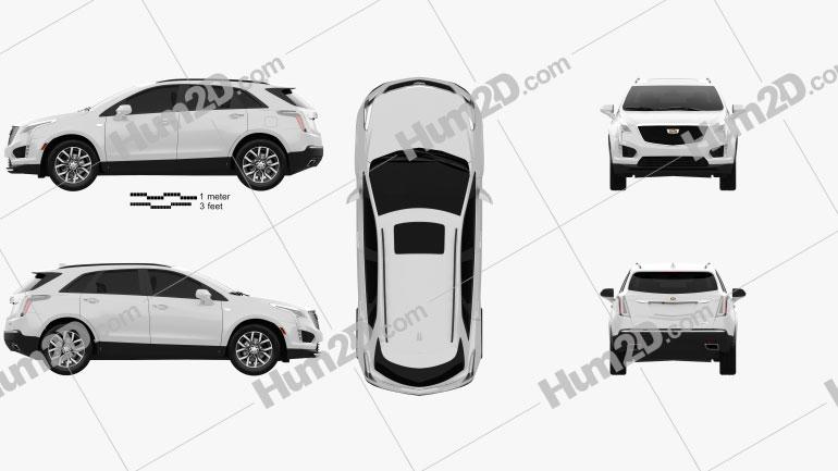 Cadillac XT5 CN-spec 2020 car clipart
