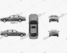 Cadillac CT6 CN-spec with HQ interior 2020 car clipart