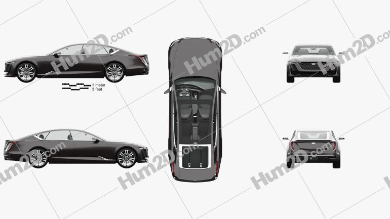 Cadillac Escala with HQ interior 2016 car clipart
