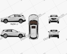 Cadillac XT5 CN-spec with HQ interior 2020 car clipart