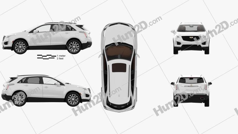 Cadillac XT5 CN-spec with HQ interior 2020 Clipart Bild