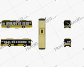 Caetano e-City Gold Bus 2016 clipart
