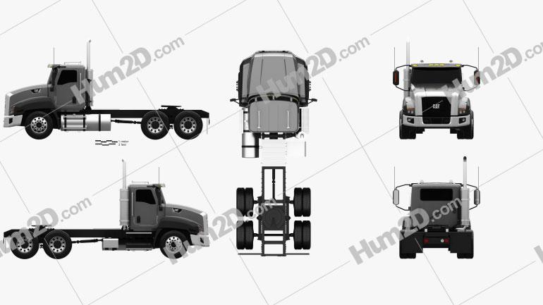 Caterpillar CT660 Tractor Truck 2011 Clipart Image