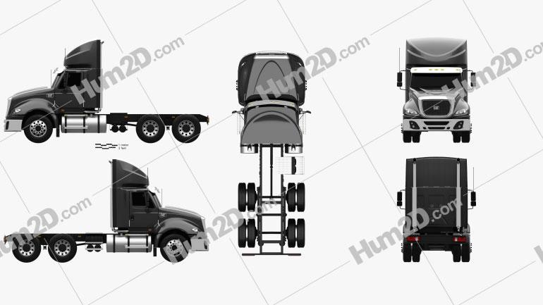 Caterpillar CT630 Tractor Truck 2011 Clipart Image