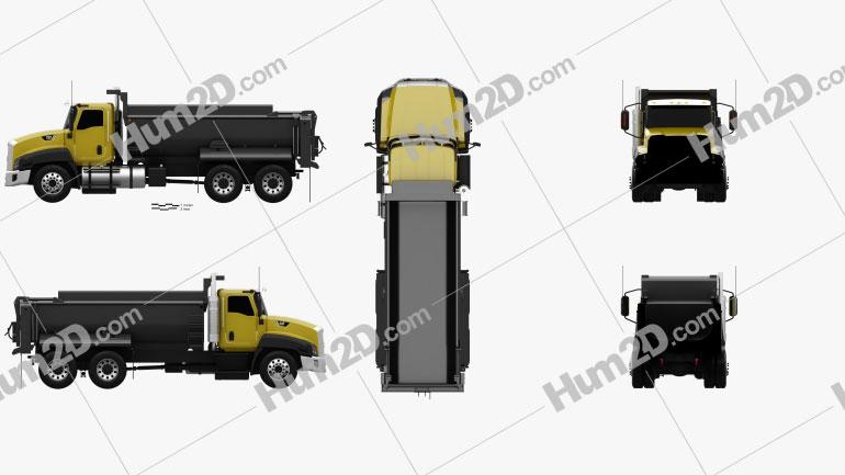 Caterpillar CT660 Dump Truck 2011 Clipart Image