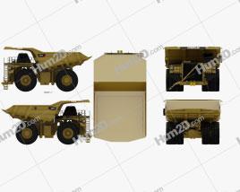 Caterpillar 797F Dump Truck 2009 clipart