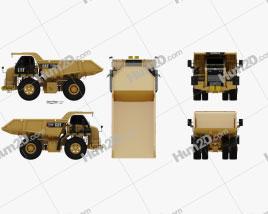 Caterpillar 770G Dump Truck 2016 clipart