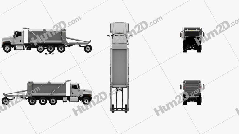 Caterpillar CT681 Dump Truck  2014 clipart