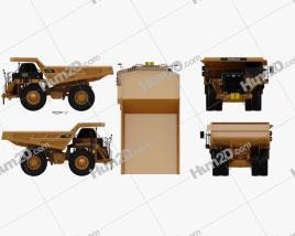 Caterpillar 777G Dump Truck 2012 Clipart