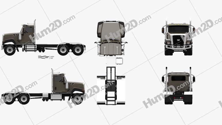 Caterpillar CT680 Tractor Truck 2015 clipart