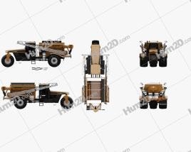 Challenger TerraGator 9300 2014 Tractor clipart
