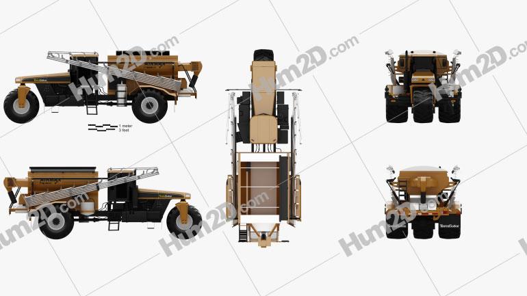 Challenger TerraGator 9300 2014 Clipart Image