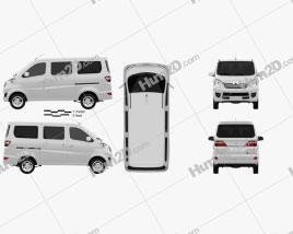 Chana Star Passenger Van 2013 clipart
