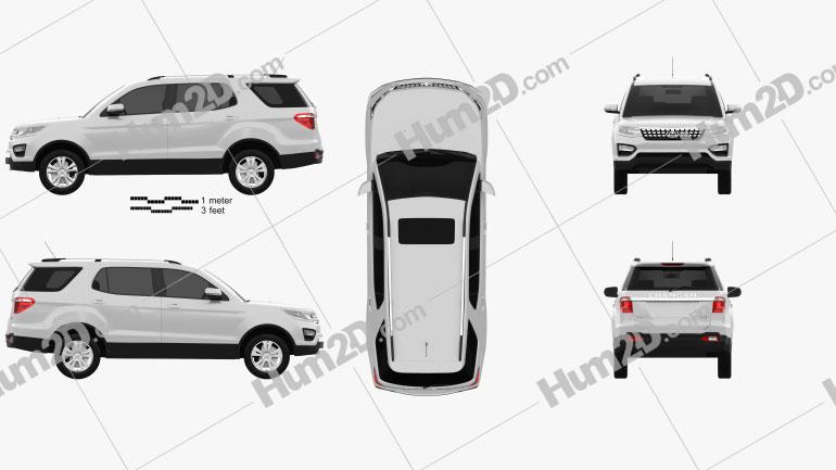 Changan CX70 2015 car clipart
