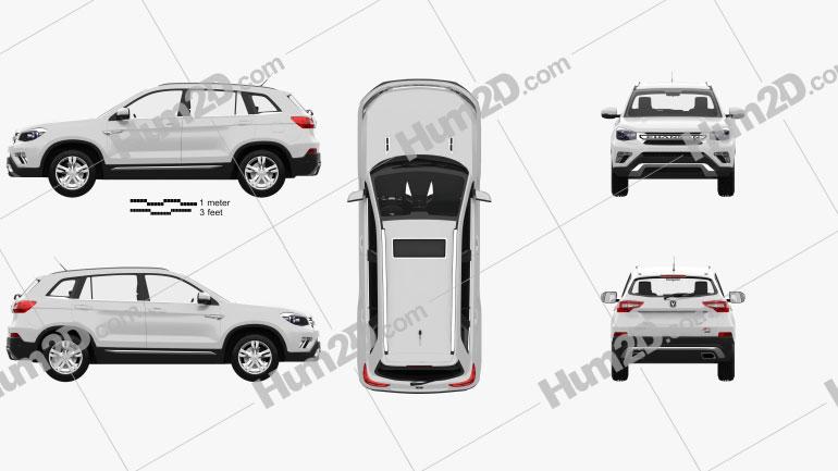Changan CS75 with HQ interior 2014 car clipart