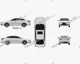 Changan Eado 2018 car clipart