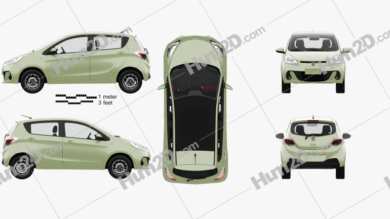 Changan Benben Love with HQ interior 2013 car clipart