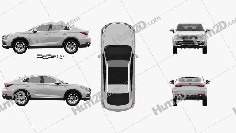 Changan CS85 Coupe 2019 car clipart
