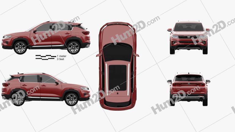 Changan CS35 Plus 2019 car clipart